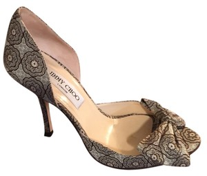Jimmy Choo chocolate brocade Pumps