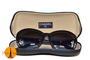 Chanel Authentic Chanel Blue Tweed Frame Sunglasses