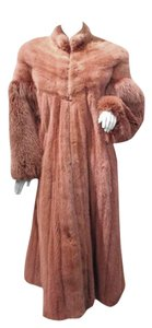 zandra rhodes Mink Fox Fur Coat