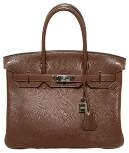 Hermès Chocolate Tote in brown