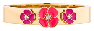Kate Spade NWT Kate Spade Goldtone Bangle with Coral and Pink Flowres - IN GIFT BOX (MATCHING EARRINGS AVAILABLE)