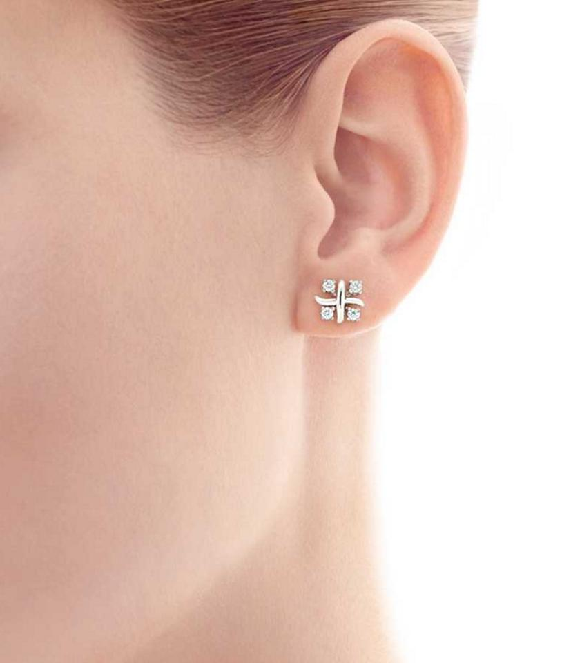 1e61be7a8 Tiffany & Co. Schlumberger Lynn In Platinum with Diamonds Earrings ...