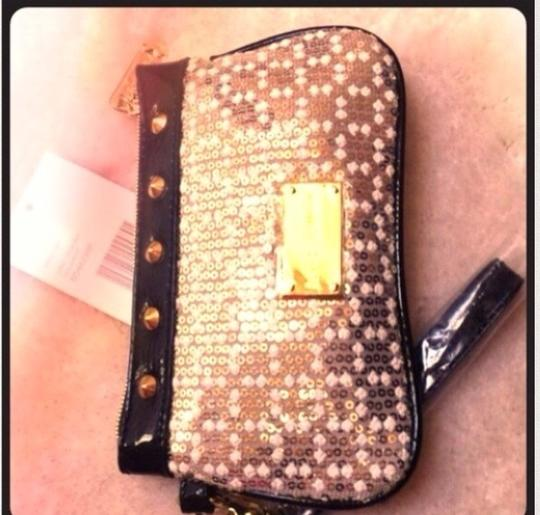 Betsey Johnson Sequin Studs Wristlet in Silver and Gold