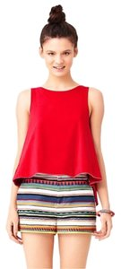 Kate Spade Saturday Reversible Tee Red Striped Top Red, black