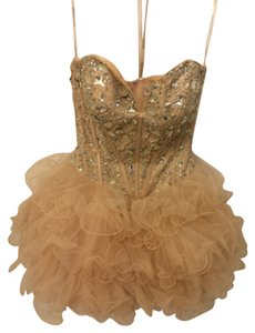 Sherri Hill Tulle Shirt Chunky Jewels Sweetheart Neck Mini Dress