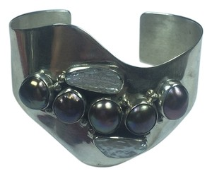 Sterling Silver Cuff With Pearls