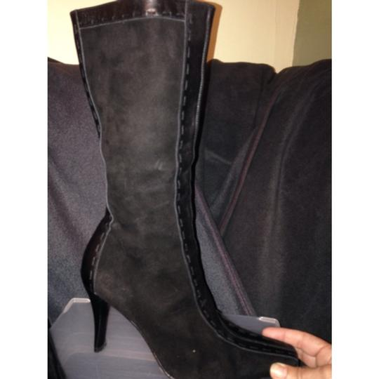 Donald J. Pliner Black Suede and Leather Boots Image 1
