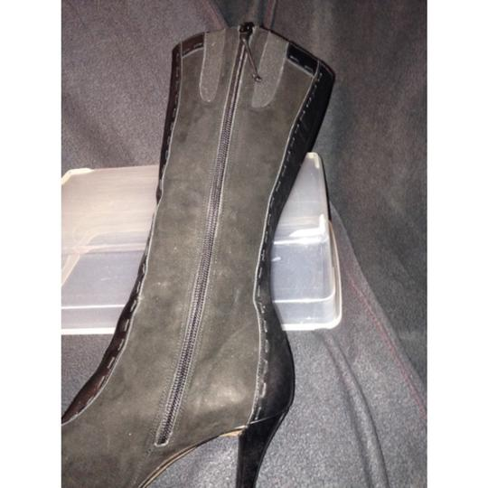 Donald J. Pliner Black Suede and Leather Boots Image 2