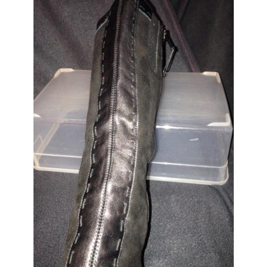 Donald J. Pliner Black Suede and Leather Boots Image 3