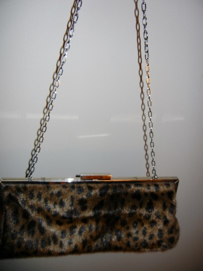 Dennis Basso Faux Fur Animal print Clutch