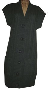 Twelfth St. by Cynthia Vincent short dress green Cashmere Wool Button Front on Tradesy