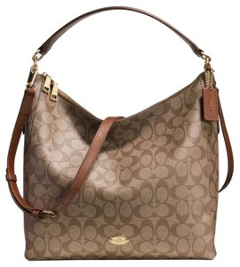 Coach Monogram Tote Hobo Bag