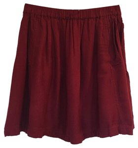 Urban Outfitters Flare Mini Skirt crimson