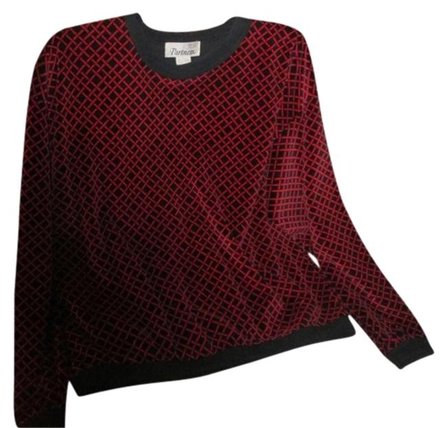 Partners Velour Long Sleeve Medium Size Maroon and Black Sweater Partners Velour Long Sleeve Medium Size Maroon and Black Sweater Image 1