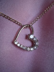 925 Silver Cubic Zirconia Heart Necklace