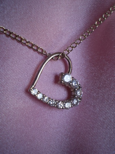 Preload https://item1.tradesy.com/images/silver-925-cubic-zirconia-heart-necklace-762405-0-0.jpg?width=440&height=440