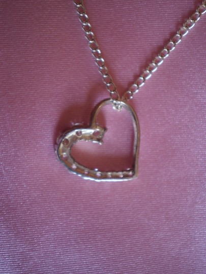 Other 925 Silver Cubic Zirconia Heart Necklace