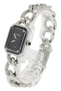 Chanel Chanel Premiere Stainless Steel Silver Black Chain Watch