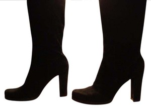 Charles David Suede Slouch Suede Scrunch Suede Slouch Black Boots