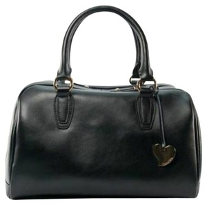 Cuore & Pelle Genuine Italian Leather Luxury High Quality Well Made Sophisticated Functional Durable Gold Hardware Gold Plated Heart Satchel in Black