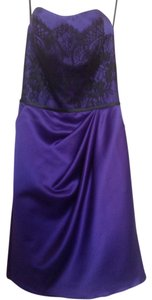 Sorrella Vita Lace Satin Bridesmaid Party Knee Length Dress
