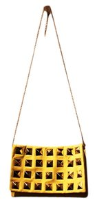 H&M Studded Yellow Clutch
