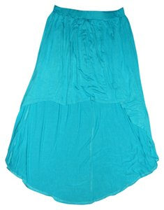 Molli And Mia High Low Summer Night Out Date Night Flirty Stretchy Skirt Blue