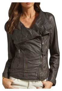 Muubaa Storm grey Leather Jacket