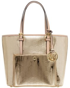 Michael Kors Tote in Pale Gold/Gold