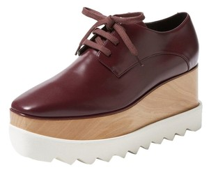 Stella McCartney Oxford Bordeaux Platforms