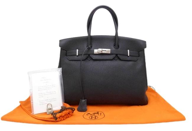 Item - Birkin Square F (2002) Togo 35 Handbag Black/Silver Black/Silver Leather Tote