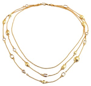 Stone 3 Tier Gold Necklace