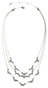 Pave Stone 3 Tier Necklace