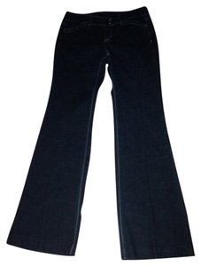 White House | Black Market Trouser/Wide Leg Jeans-Dark Rinse