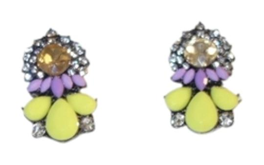 Preload https://item1.tradesy.com/images/swarovski-crystal-yellow-and-silver-neon-statement-earrings-762785-0-0.jpg?width=440&height=440