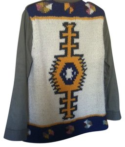Daughters of the Liberation Sweater Back Aztec Military Jacket