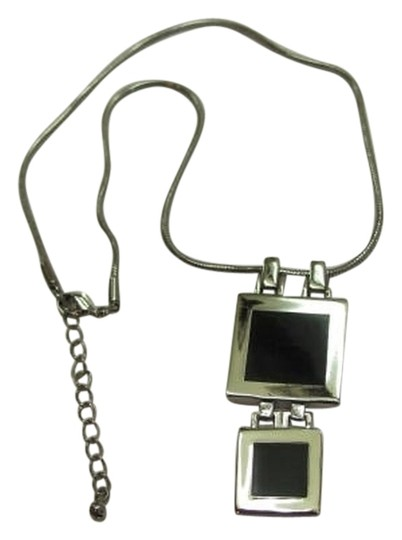 Preload https://item5.tradesy.com/images/silver-black-square-pendant-on-chain-necklace-762809-0-0.jpg?width=440&height=440