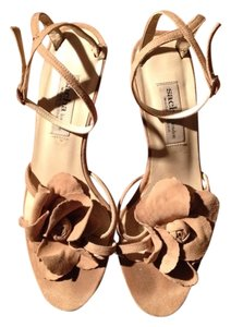 Sacha London Heels Suede Strappy Sandals