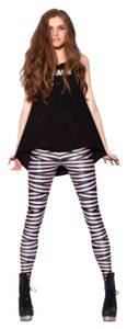 Black Milk Clothing Tapes black and white Leggings