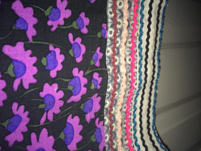 Free People short dress Black with multi colored floral on Tradesy