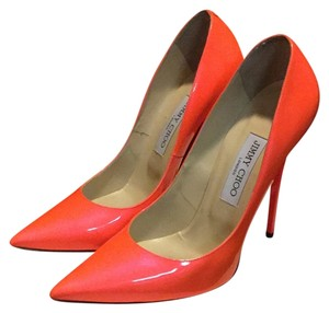Jimmy Choo Orange / Flame Pumps