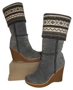 Steve Madden Leather Suede grey Boots