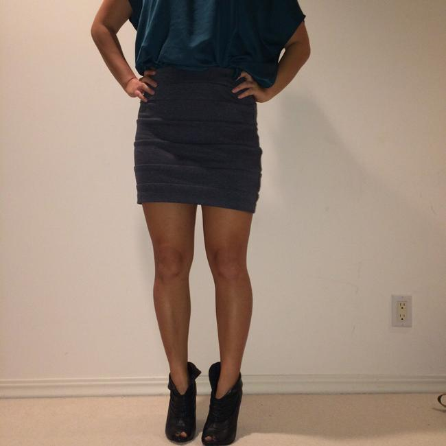 Forever 21 Bodycon Mini Skirt Grey