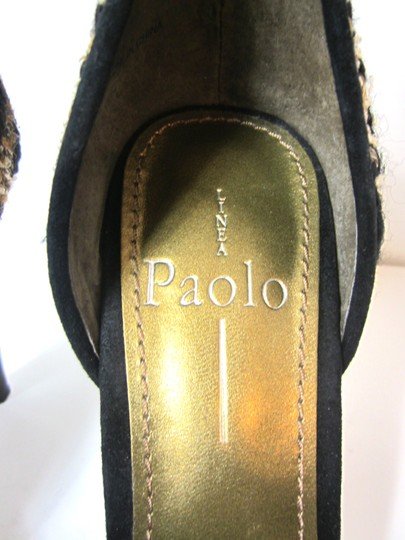 Linea Paolo Balack, Brown, Golden Sandals