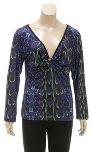 Roberto Cavalli Top Purple/Multicolor