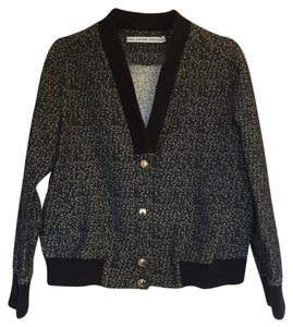 & Other Stories Cocoon Marble Marble Print Marled Boucle Motorcycle Jacket