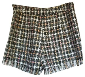 Topshop Fringe Tweed Office Shorts black
