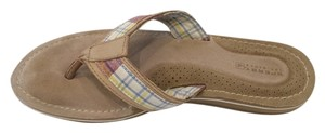 Sperry Flip Flops Plaid Sandals