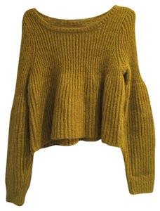 Sincerely Tommy Two Piece Yellow Cozy Comfy Ribbed Ribbed Knit Dress Knit Skirt Knit Sweater