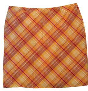 American Eagle Outfitters Skirt Orange plaid